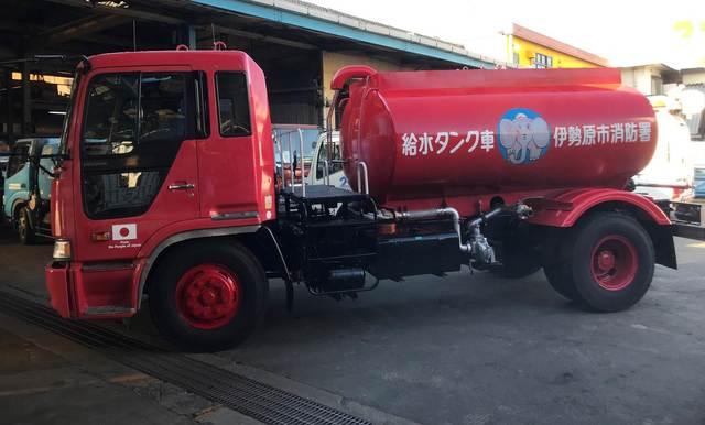 海外で活躍している車・水槽付消防ポンプ自動車(旧ぞうさん号の水槽)